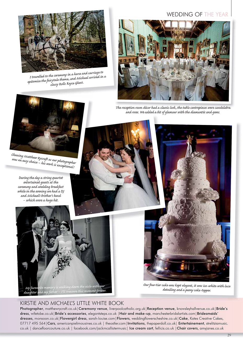 2016 Merseyside & Cheshire Wedding of the Year Winners