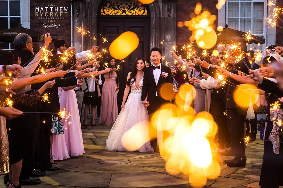 Wedding Sparkler Photograph
