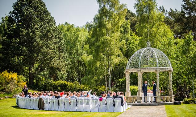 Wedding Ceremony at Hillbark