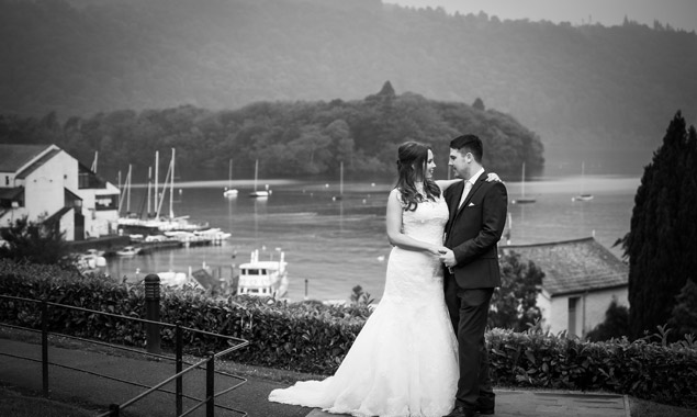 Bride and Groom at Lake District