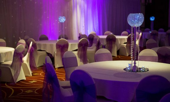 Wedding Tables at the Marriott Hotel