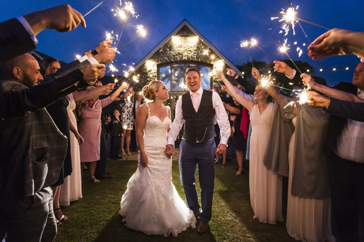 Sparklers Wedding Photograph