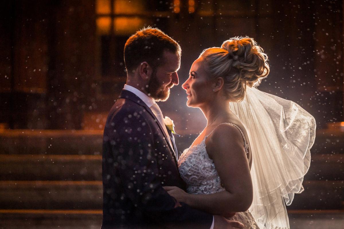 Rain Wedding Day Photograph