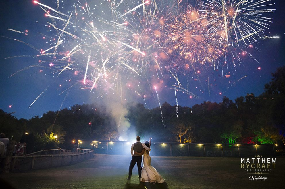 Cheshire Wedding Fireworks