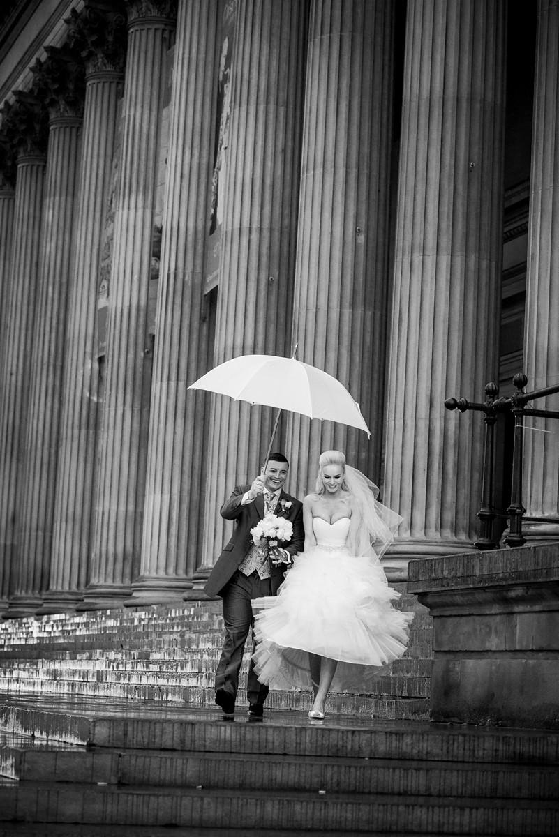 Bride and Groom Rain Umbrella