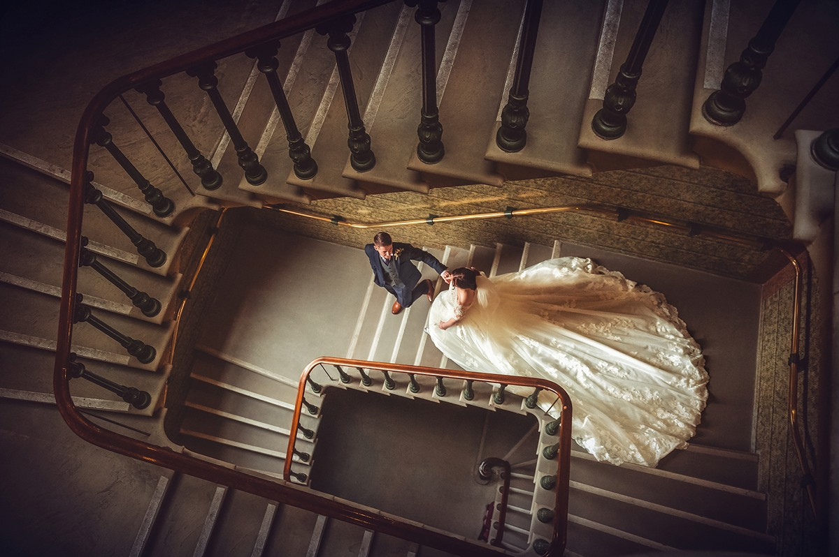 Staircase Wedding Photograph Liverpool