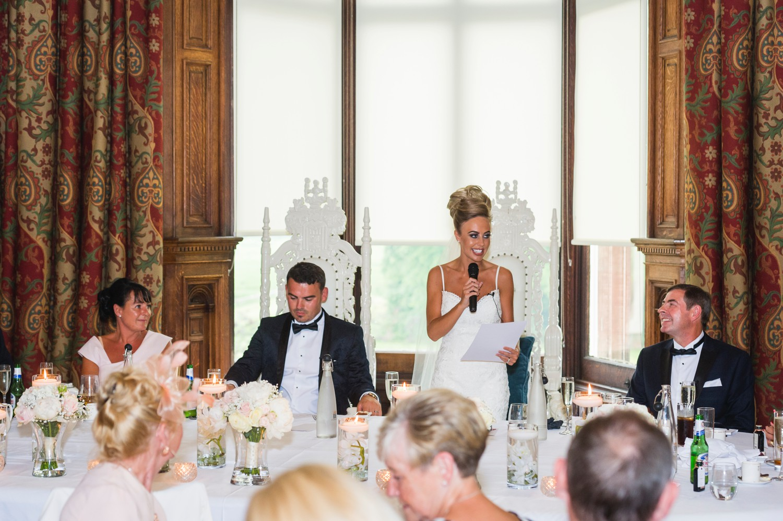 Bride Giving Wedding Speech