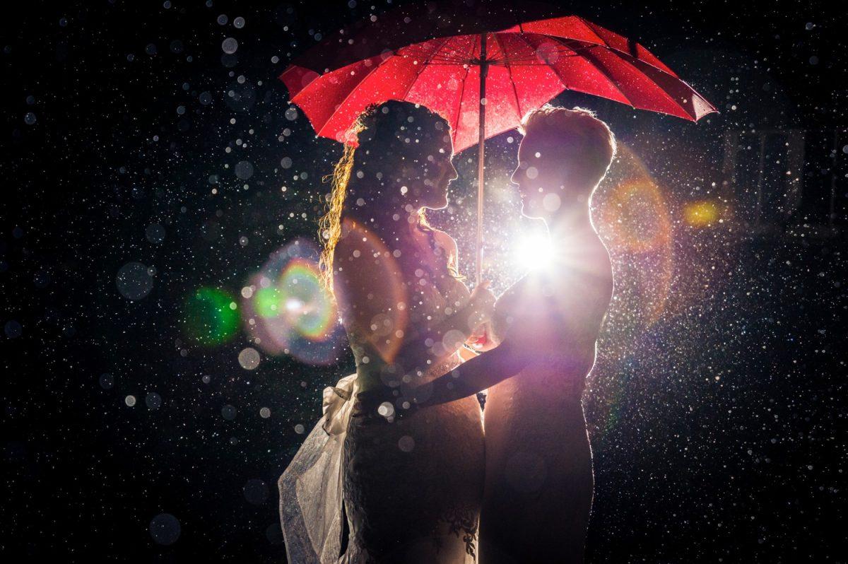 Gay Wedding Photography Rain Umbrella