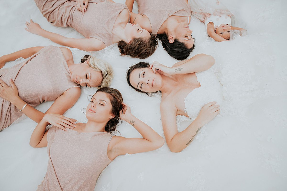 Bride & Bridesmaids Wedding Photograph Idea
