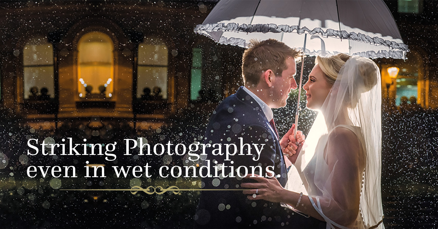 Wedding Photography in Winter Rain