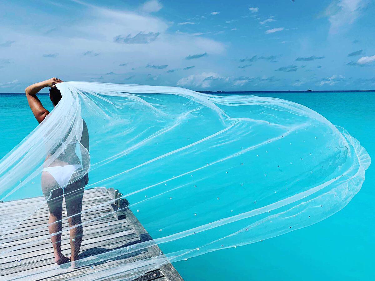 Bride Beach Veil