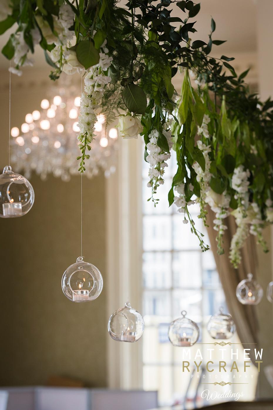 Hanging Flower Display Wedding