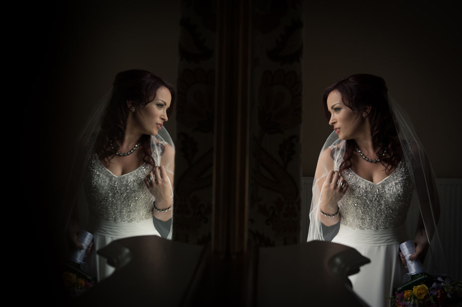 Bride Portrait Wedding Mirror