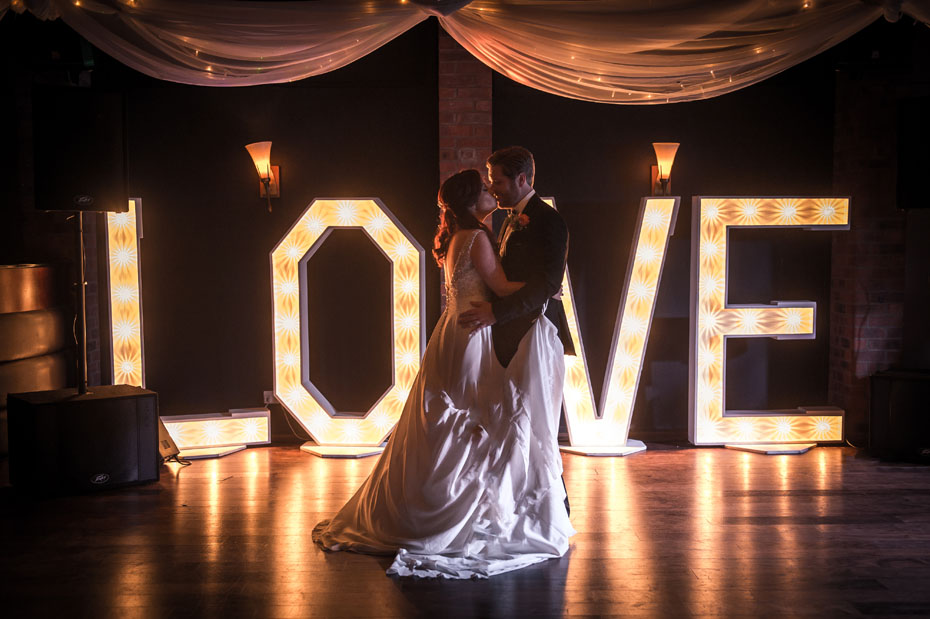 Bartle Hall First Dance Love Sign