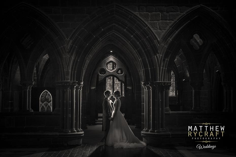 Bride and Groom Portrait Church