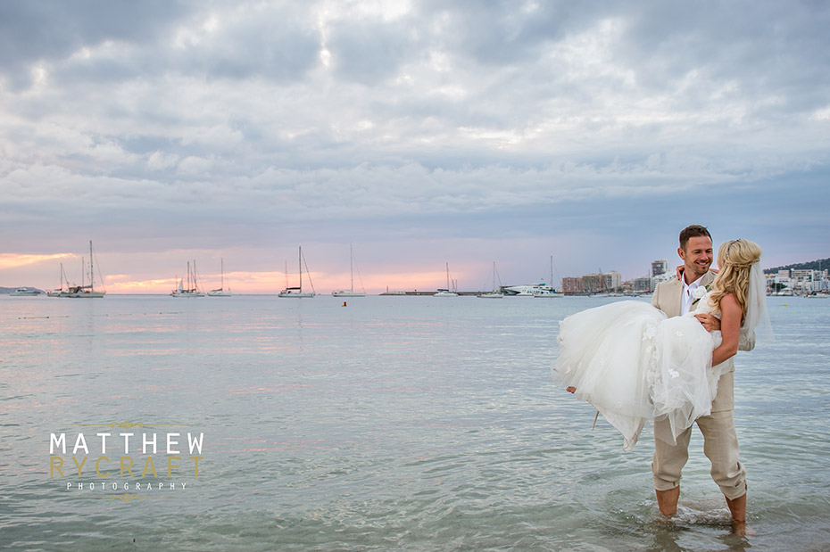 Bride and Groom in Sea