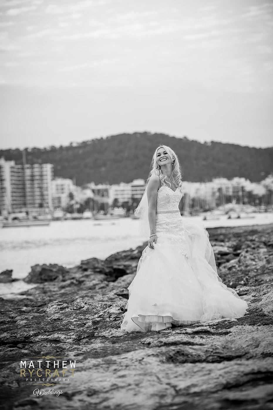 Bride in Ibiza