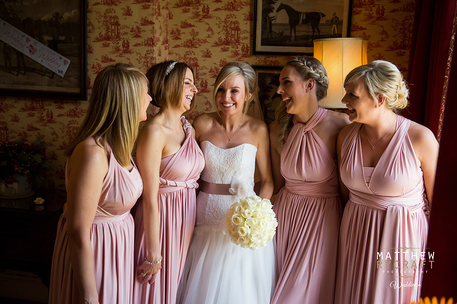 Eliza and Ethan Dusky pink multiway Bridesmaids dresses