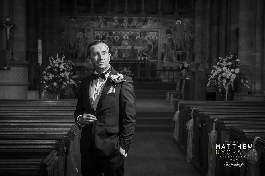 Groom Portrait in Church