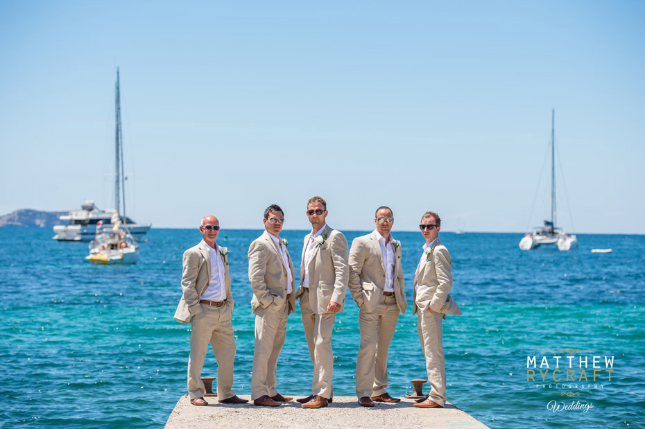 Groomsmen in Ibiza Wedding