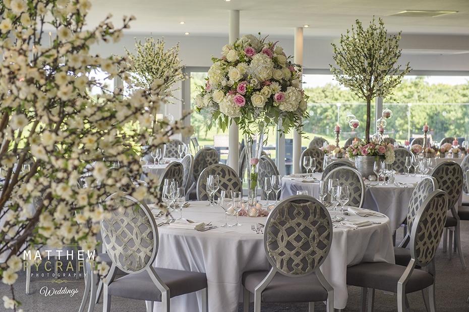 Hurlston Hall Wedding Venue Dressed