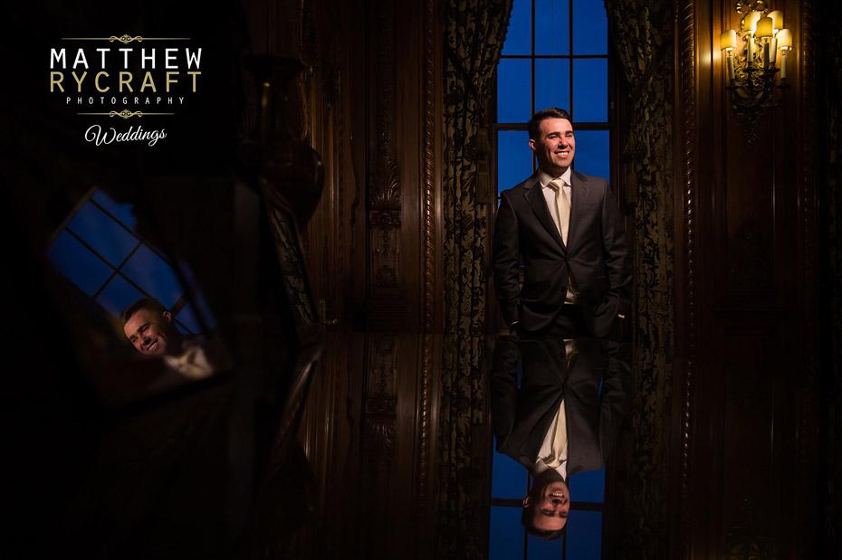 Wedding Groom Reflection