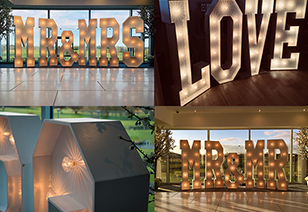 Love & Mr & Mrs Letter Hire