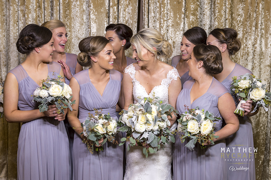 Lilac full length bridesmaid dresses
