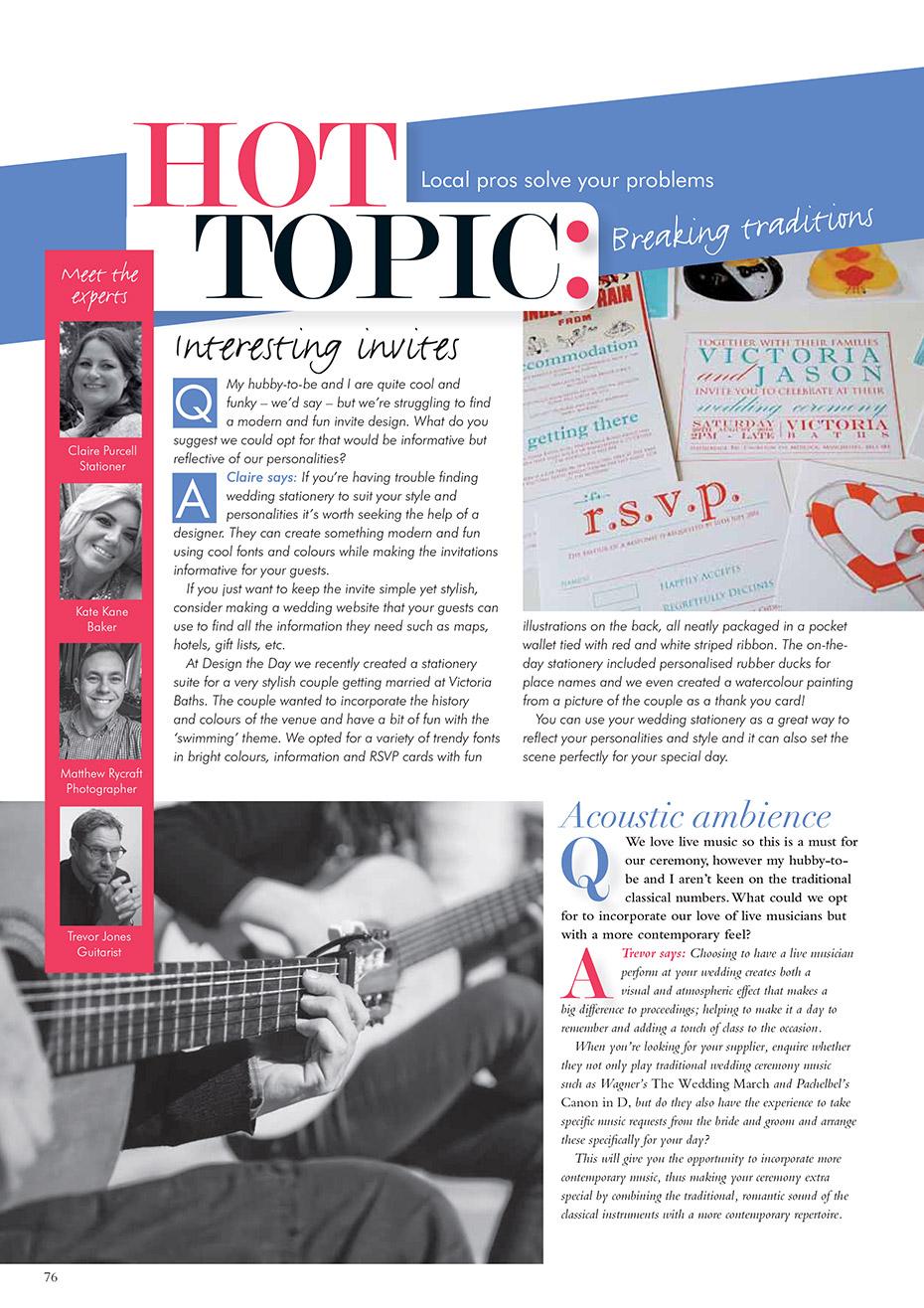 Matthew Rycraft Magazine Feature
