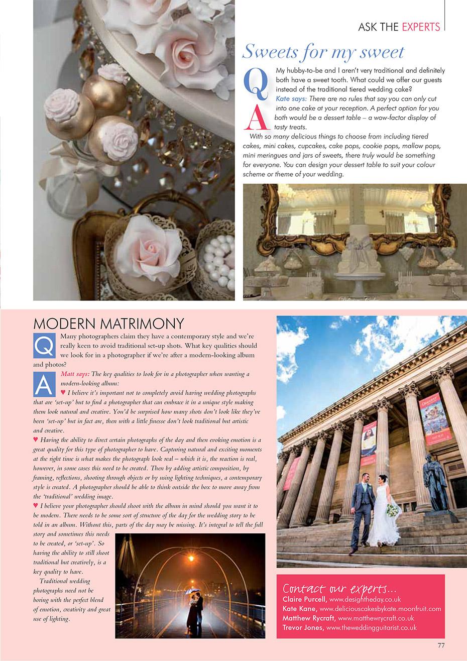 Matthew Rycraft Wedding Magazine Feature