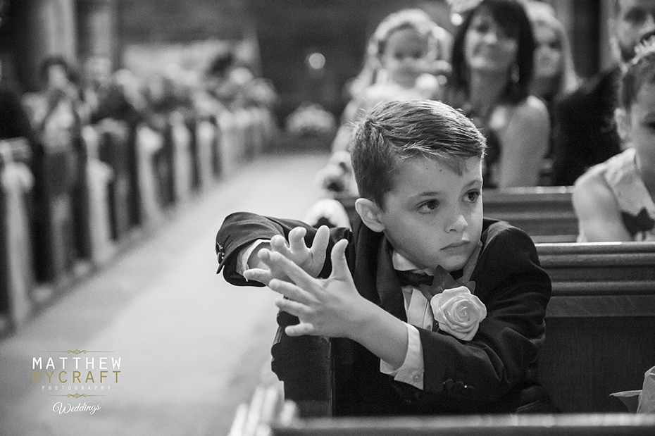 Pageboy in Church Wedding Day
