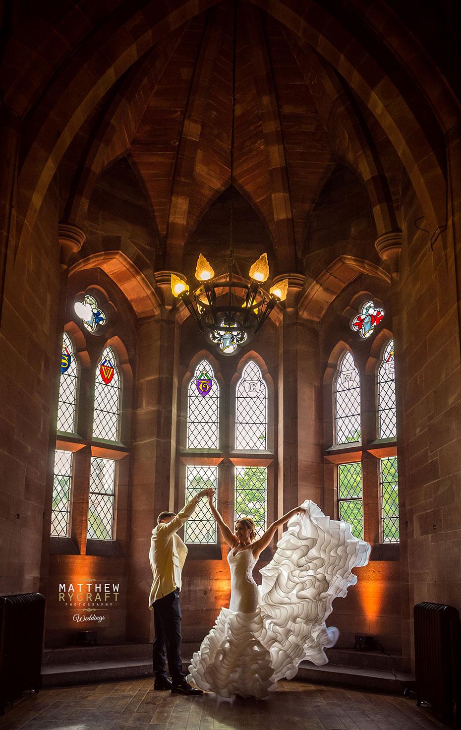 Peckforton Castle Wedding Arch