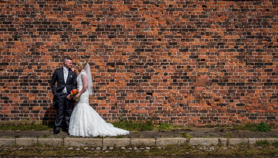 Wedding Photography Brick Wall