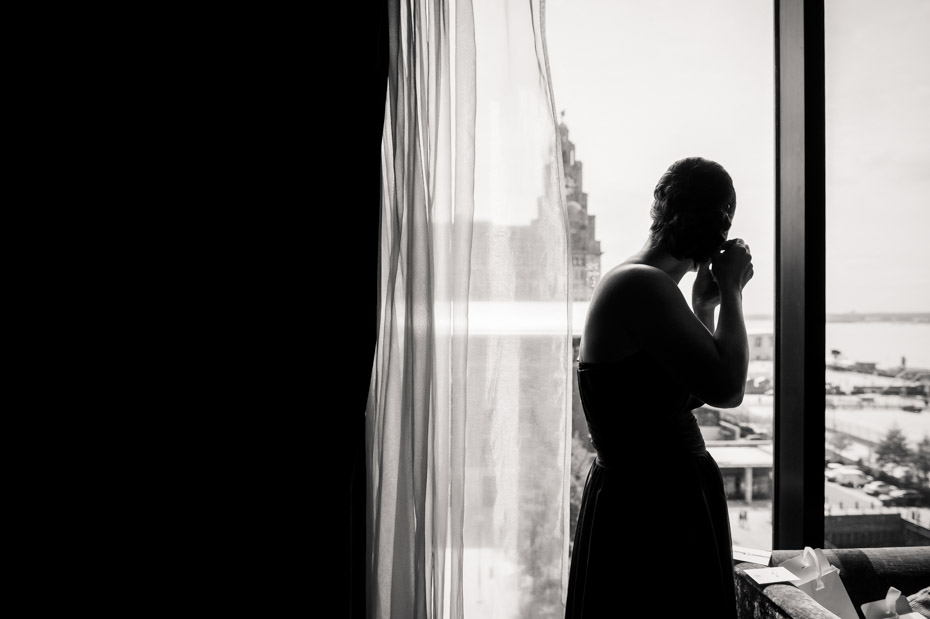 Wedding Photography Silhouette, Bridesmaid