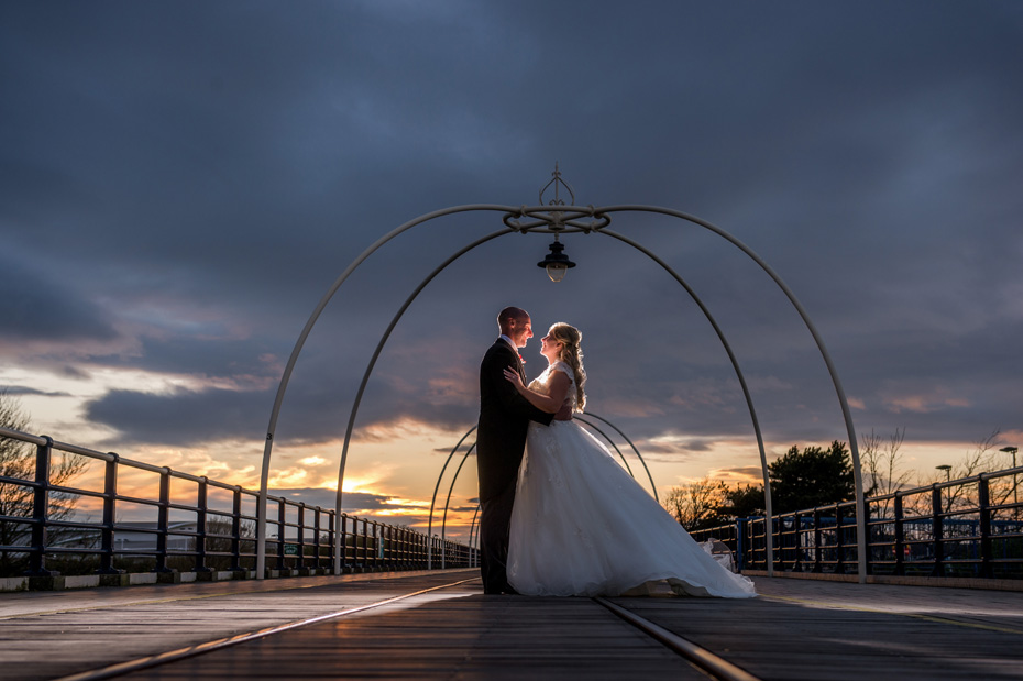 Southport Sunset Wedding Photograph