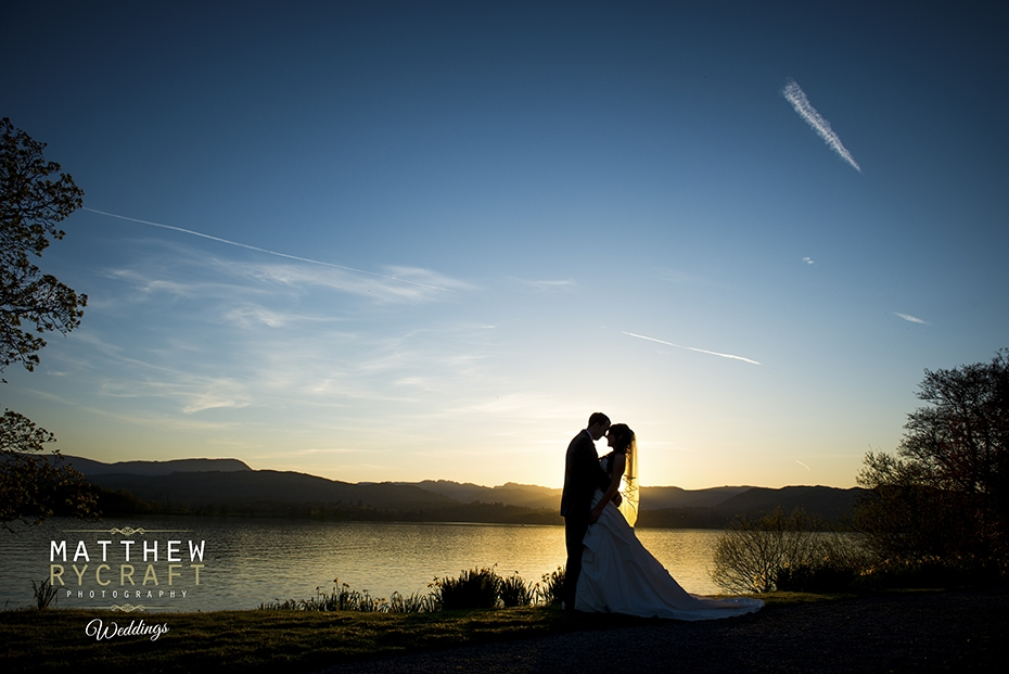 Sunset Lake District Wedding Photograph
