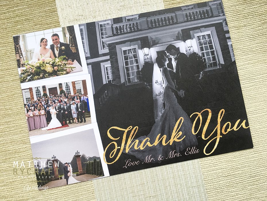 Thank You Card Wedding Photographer