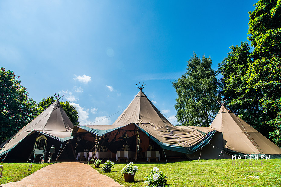 Tipi Wedding Photograph