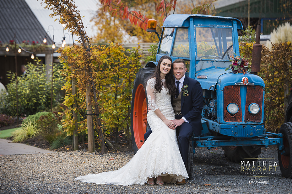 Tractor Wedding Photograph