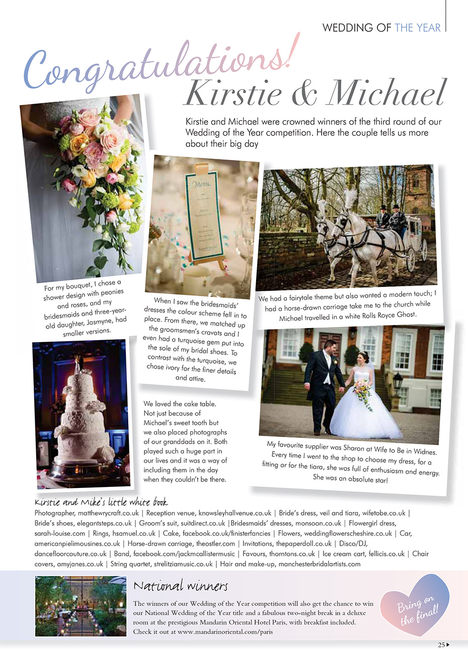 Your Cheshire and Merseyside Wedding Magazine - Wedding of the Year