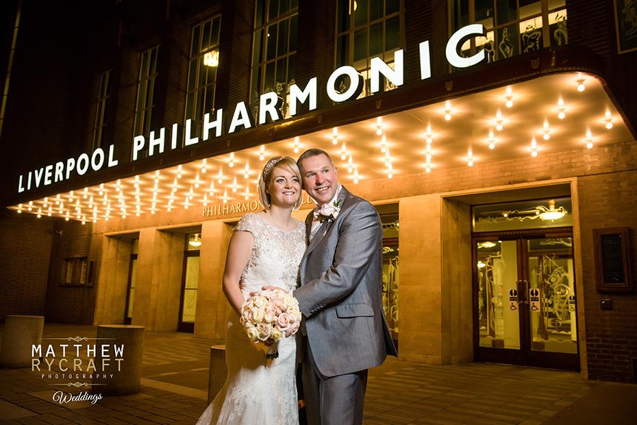 Liverpool Philharmonic Wedding Photograph