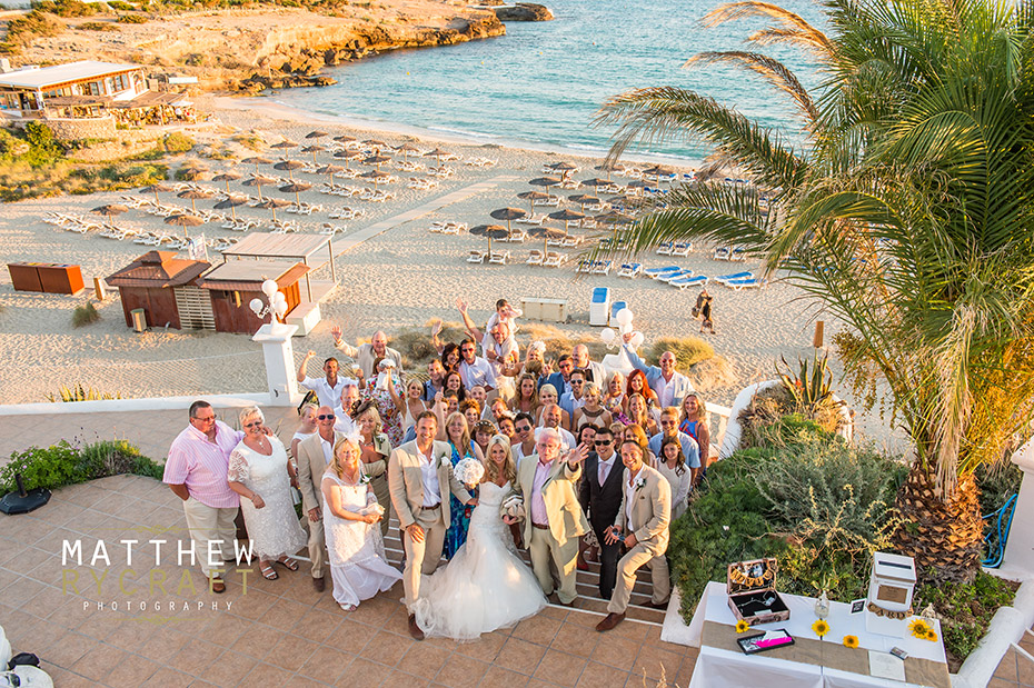 Wedding group Shot Abroad Wedding