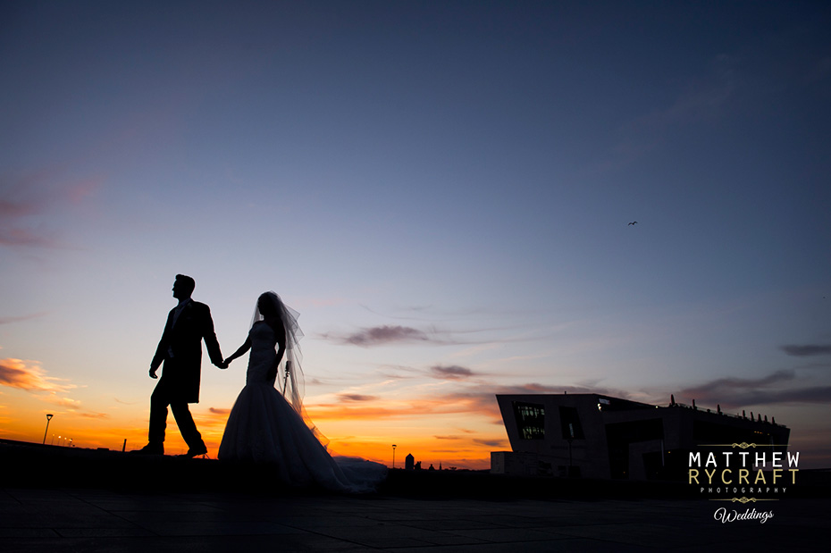 Liverpool Wedding Sunset Photograph