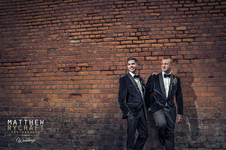 Grooms Brick Wall Portrait