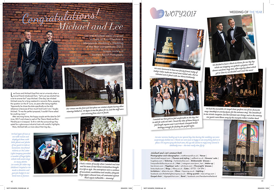 Wedding of the Year Magazine Article
