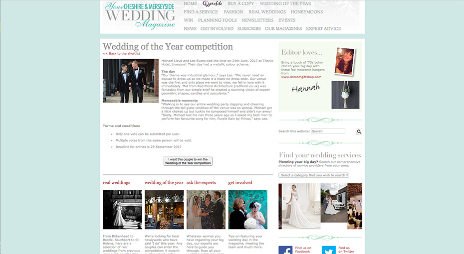 Your Merseyside Wedding Magazine Wedding of the Year