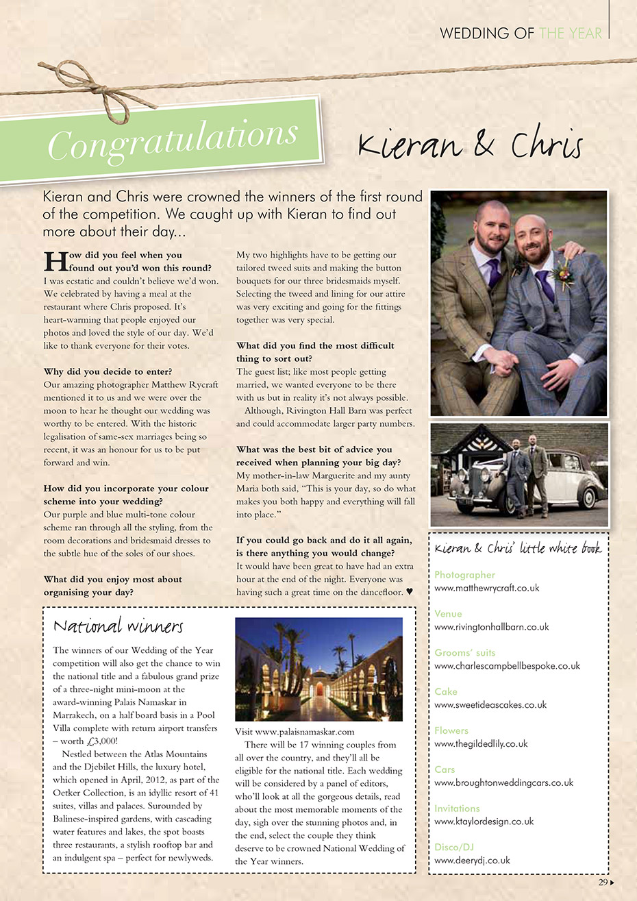 Wedding of the Year Finalist 2015