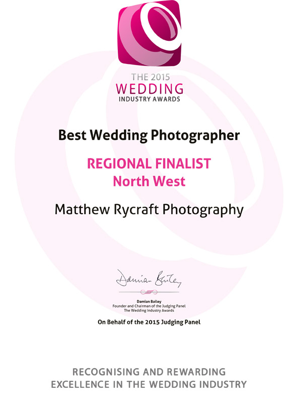 The 2015 Wedding Industry Awards REGIONAL FINALISTNorth We