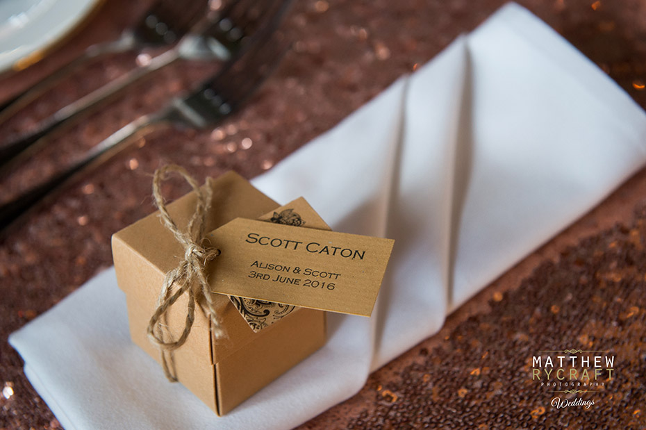 Personalised Wedding Stationary created with brown kraft paper