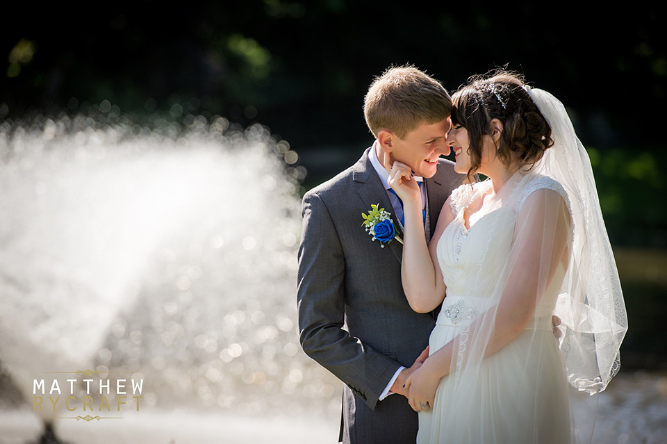 Wedding Photograph and Fountain